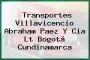 Transportes Villavicencio Abraham Paez Y Cia Lt Bogotá Cundinamarca