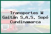 Transportes W Gaitán S.A.S. Sopó Cundinamarca