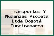 Transportes Y Mudanzas Violeta Ltda Bogotá Cundinamarca