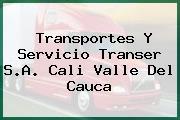 Transportes Y Servicio Transer S.A. Cali Valle Del Cauca