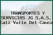 TRANSPORTES Y SERVICIOS JG S.A.S. Cali Valle Del Cauca
