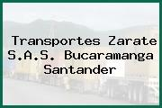 Transportes Zarate S.A.S. Bucaramanga Santander