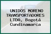 UNIDOS MORENO TRANSPORTADORES LTDA. Bogotá Cundinamarca