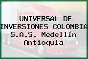 UNIVERSAL DE INVERSIONES COLOMBIA S.A.S. Medellín Antioquia