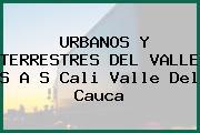 URBANOS Y TERRESTRES DEL VALLE S A S Cali Valle Del Cauca