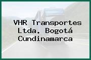 VHR Transportes Ltda. Bogotá Cundinamarca