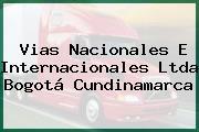 Vias Nacionales E Internacionales Ltda Bogotá Cundinamarca
