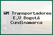 WM Transportadores E.U Bogotá Cundinamarca