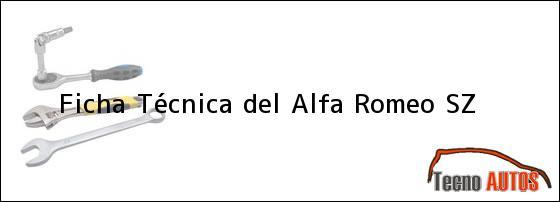 Ficha Técnica del <i>Alfa Romeo SZ</i>
