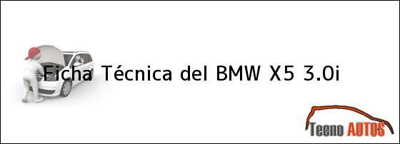 Ficha Técnica del <i>BMW X5 3.0i</i>