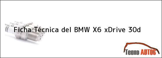 Ficha Técnica del BMW X6 xDrive 30d