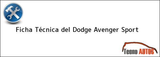 Ficha Técnica del Dodge Avenger Sport