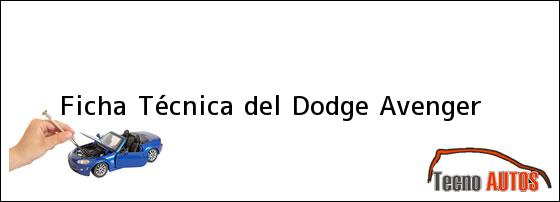 Avenger 2000 ficha tecnica - Juegos de dodge avenger - Ficha