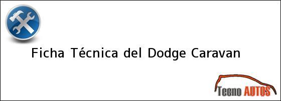 Ficha Técnica del Dodge Caravan