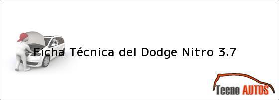 Ficha Técnica del <i>Dodge Nitro 3.7</i>