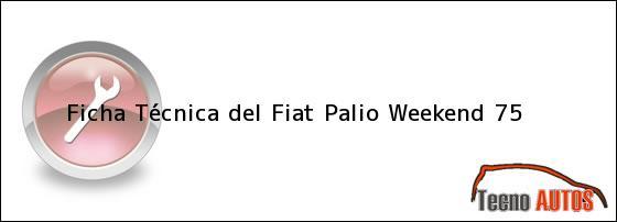 Ficha Técnica del Fiat Palio Weekend 75