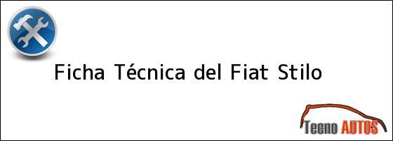 Ficha Técnica del Fiat Stilo