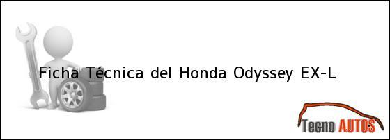 Ficha Técnica del Honda Odyssey EX-L