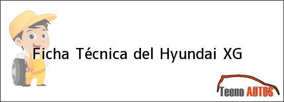 Ficha Técnica del <i>Hyundai XG</i>