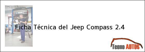 Ficha Técnica del Jeep Compass 2.4