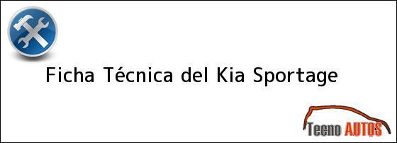 Ficha Técnica del Kia Sportage