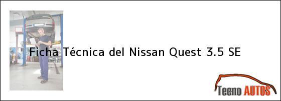 Ficha Técnica del Nissan Quest 3.5 SE