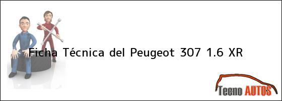 Ficha Técnica del <i>Peugeot 307 1.6 XR</i>