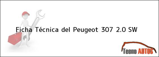 Ficha Técnica del <i>Peugeot 307 2.0 SW</i>