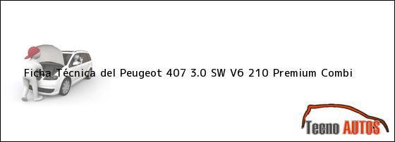 Ficha Técnica del Peugeot 407 3.0 SW V6 210 Premium Combi