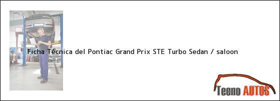 de pontiac 1990 - Ficha Técnica del Pontiac Grand Prix STE Turbo ...