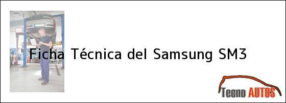 Ficha Técnica del Samsung SM3