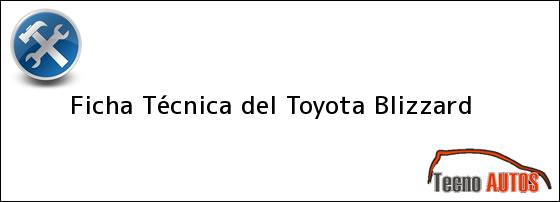 Ficha Técnica del Toyota Blizzard