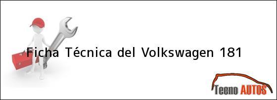 Ficha Técnica del <i>Volkswagen 181</i>