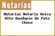 Notarias Notaria Unica Alto Baudopie De Pato Choco