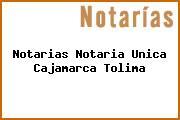 Notarias Notaria Unica Cajamarca Tolima