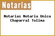 Notarias Notaria Unica Chaparral Tolima