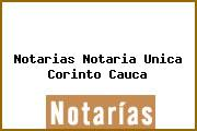 Notarias Notaria Unica Corinto Cauca