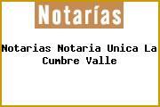 Notarias Notaria Unica La Cumbre Valle