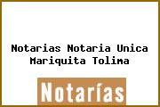 Notarias Notaria Unica Mariquita Tolima