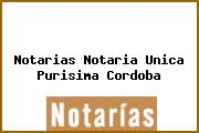 Notarias Notaria Unica Purisima Cordoba