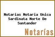 Notarias Notaria Unica Sardinata Norte De Santander