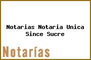 Notarias Notaria Unica Since Sucre