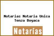Notarias Notaria Unica Tenza Boyaca