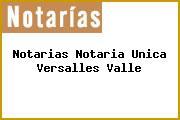 Notarias Notaria Unica Versalles Valle