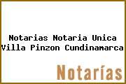 Notarias Notaria Unica Villa Pinzon Cundinamarca