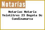 Notarias Notaria Veintitres 23 Bogota Dc Cundinamarca