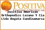 <i>positiva American Orthopedics Lozano Y Cia Ltda Bogota Cundinamarca</i>