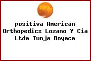 <i>positiva American Orthopedics Lozano Y Cia Ltda Tunja Boyaca</i>
