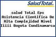 <i>salud Total Eps Asistencia Cientifica De Alta Complejidad Nivel Iiiii Bogota Cundinamarca</i>