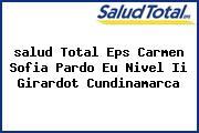 <i>salud Total Eps Carmen Sofia Pardo Eu Nivel Ii Girardot Cundinamarca</i>